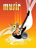 Illustration of musical background — Stockvektor