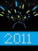 Wallpaper for new year 2011 — Cтоковый вектор