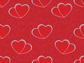 Romantische patroon illustratie — Stockvector