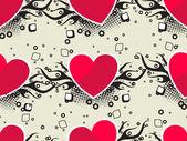 Romantik desen çizimi — Stok Vektör