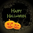illustratie voor happy halloween-viering — Stockvector