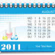Stock Vector: Vector 2011 medical calender