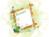 Vacker romantisk ram illustration — Stockvektor