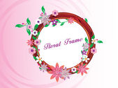 Creative floral pattern frame — Stock Vector