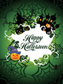 Illustration for happy halloween celebration — Stock Vector