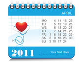 Vector 2011 medical calender — Stock Vector