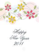 Wallpaper for new year 2011 — Stockvektor
