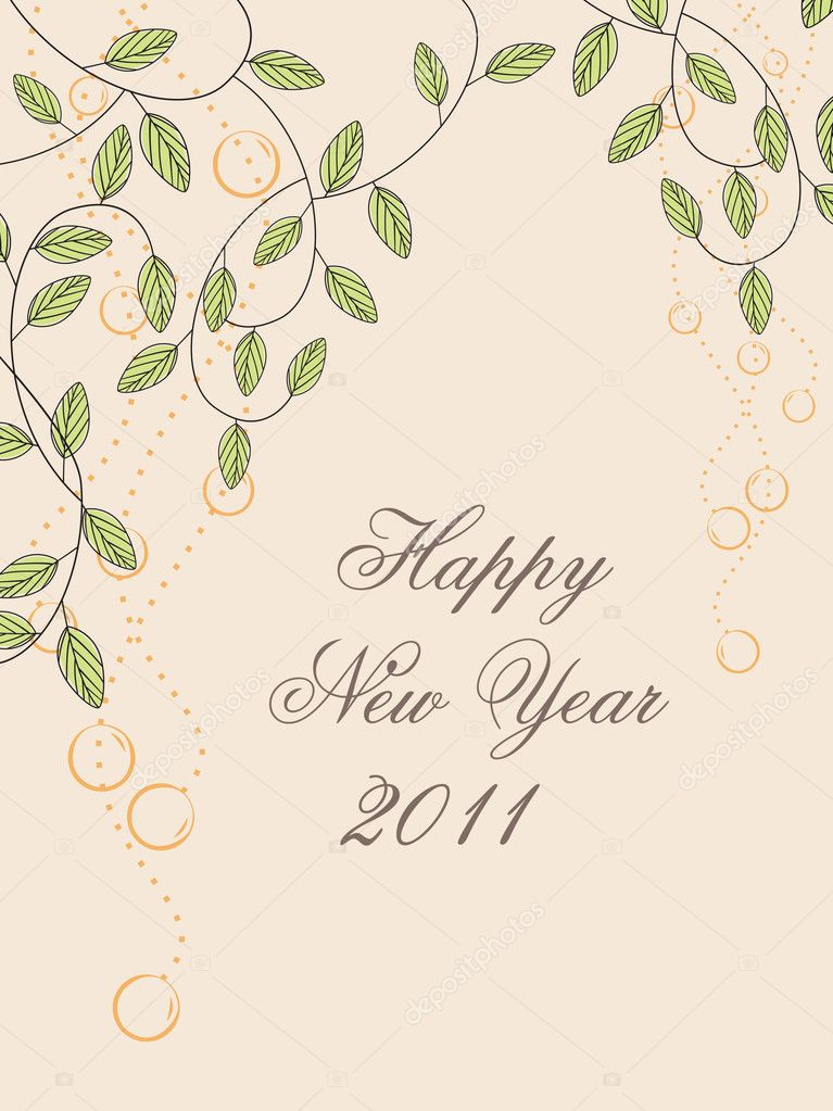 Illustration of nappy new year 2011 wallpaper — Stock Vector #4063082