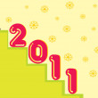 Wallpaper for new year - Imagen vectorial