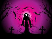 Ilustración para la celebración de halloween — Vector de stock