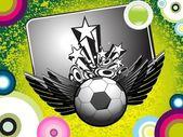 Grungy background with football — Stockvektor