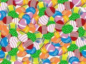 Colorful easter egg background — Stock Vector