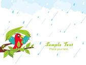 Abstract rainy background, illustration — Stock Vector