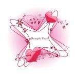 Roamntic floral frame, illustration — Stock Vector
