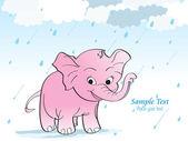 Deszczowy tło z słoń — Wektor stockowy
