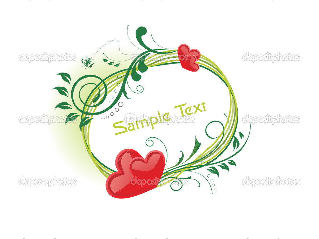 Beautiful romantic frame isolated on background — Stock Vector #4103957