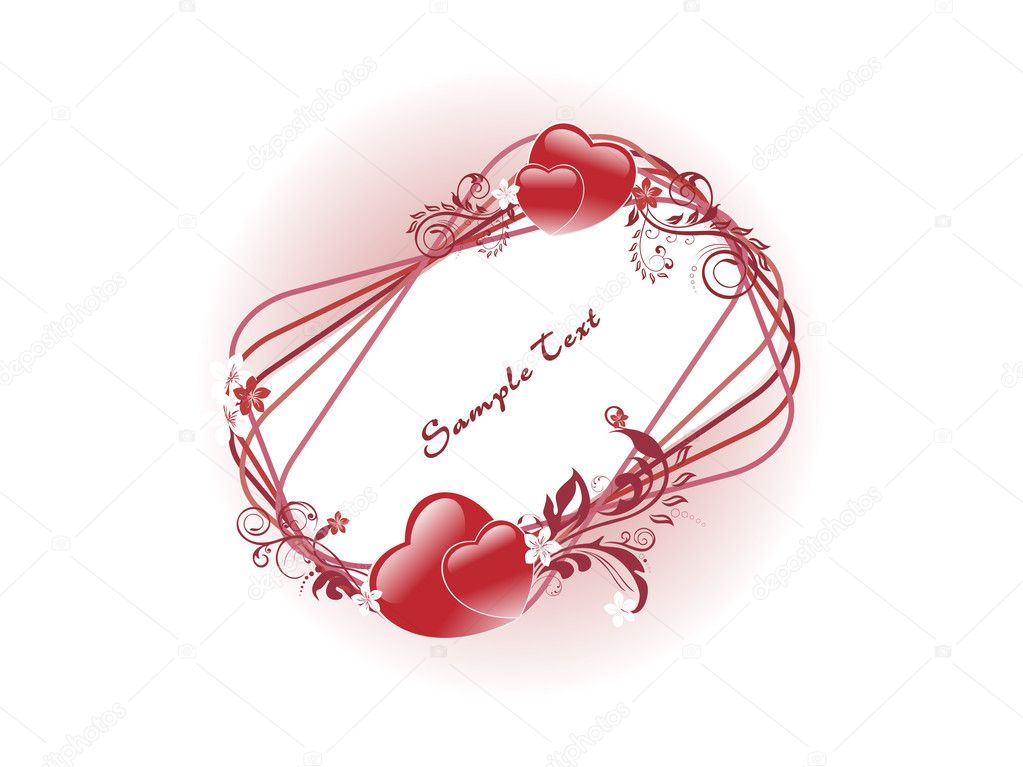 Beautiful romantic frame isolated on background — Stock Vector #4104008