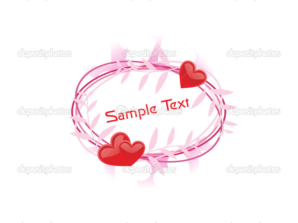 Beautiful romantic frame isolated on background  Stock Vector #4104015