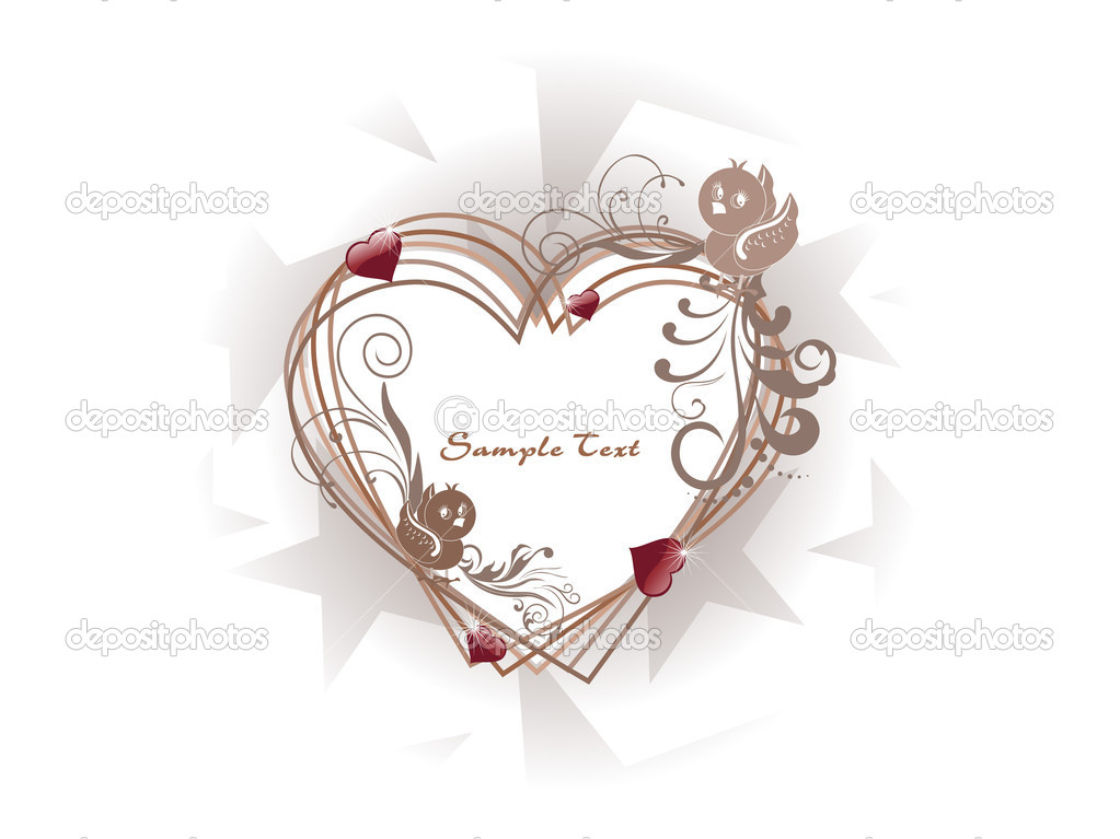 Beautiful romantic frame isolated on background — Stock Vector #4104060