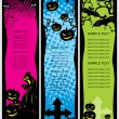 Background with set of halloween banner — Stock Vector #4119538