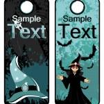 sfondo con set di tag di halloween — Vettoriale Stock  #4119923