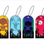 sfondo con set di tag di halloween — Vettoriale Stock  #4119937
