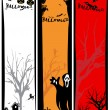 Set of scary halloween banner — Stock Vector #4119986