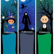 Set of scary halloween banner — Stock Vector #4119998