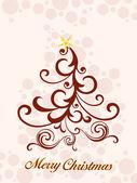 Merry christmas background, illustration — Stock Vector