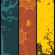 Background with set of halloween banner — Stock Vector #4120072