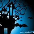 Stock Vector: Scary halloween background