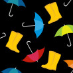 Постер, плакат: Colorful rainy day concept