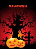 Scary halloween background — Stock Vector