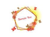 Background with isolated floral frame — 图库矢量图片