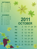 Calender for new year 2011 — Stock Vector
