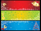 Background with set of banner — Stock Vector