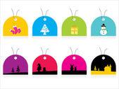 Set of christmas sale tag — Stock Vector