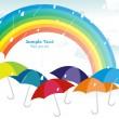 Rainy background with rainbow — Stock Vector #4154282