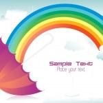 Rainy background with rainbow — Stock Vector #4154287