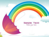 Rainy background with rainbow — Stock Vector