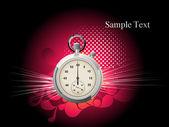 Fondo con reloj aislado — Vector de stock