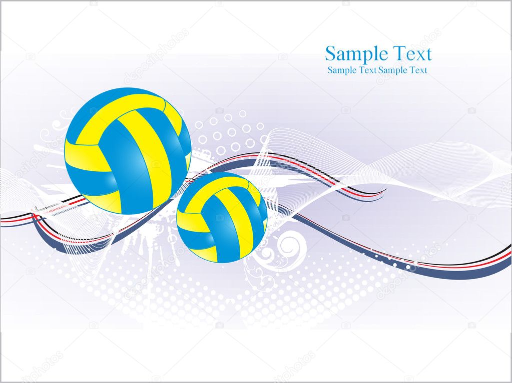 Abstract grungy background with volleyball, arrowhead  Stock Vector #4154358