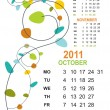 Stock Vector: Creative artwork calender for 2011