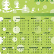 Xmas background calender for 2011 — Stock Vector