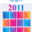 Vector calender for new year 2011 — Stock Vector #4169323