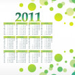 Vector calender for new year 2011 — Stock Vector #4169344