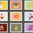 Set of merry xmas stamp — Stock Vector #4169375