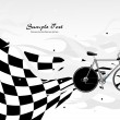 Royalty-Free Stock Vector Image: Vector racing bicycle on background