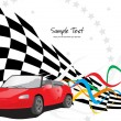 Vector sport race background - Stock Vector