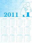 2011 kalender für medizinischen bereich — Stockvektor